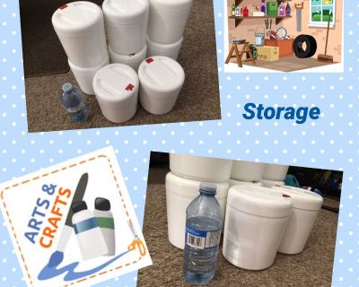 Storage Containers with lids QTY 8