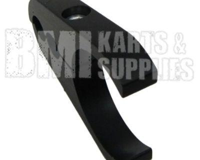 """Aluminum Brake Line Clamp For 1-1/4"""" Rail Tube - Go Kart Minibike Billet Black"""