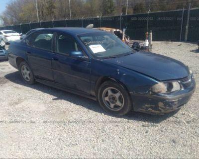 Salvage Blue 2004 Chevrolet Impala