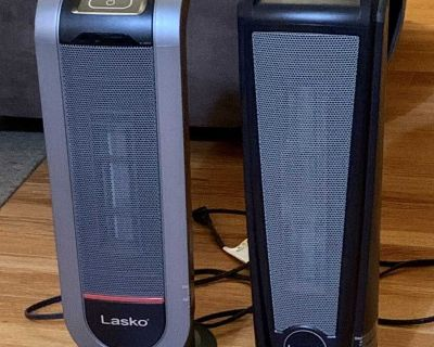2 Ceramic Tower Space Heaters