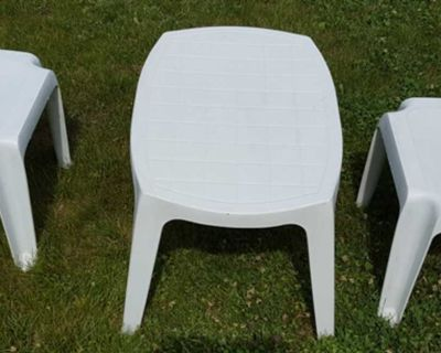 Set of 3 Patio Tables