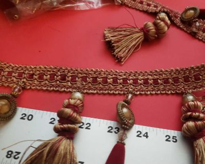 6and2/3 yards of maroon and gold