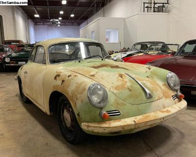 1964 Porsche 356 C Reutter Coupe Barn find Driver!