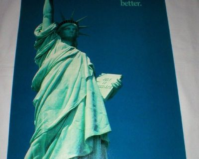 """Statue of Liberty Vintage Poster 1986 - 14"""" x 21"""" Unframed"""