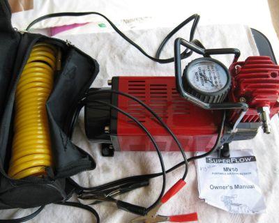 SUPERFLO- MV50, Port.Air Compressor.