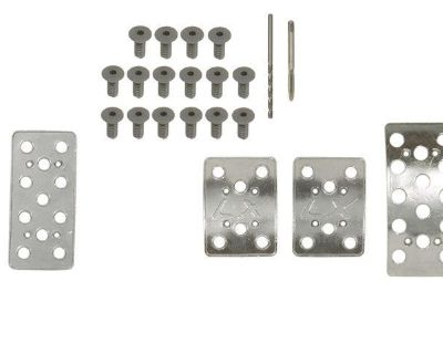 """1979-2004 Ford Mustang 5-speed """"lx"""" Aluminum (mac) Pedal Cover Set"""