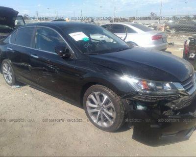 Salvage Black 2014 Honda Accord Sedan