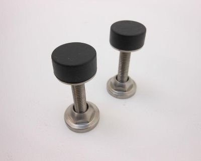 1964-1972 67 68 69 Camaro Chevelle Stainless Hood Adjusters,pair Made In U.s.a.