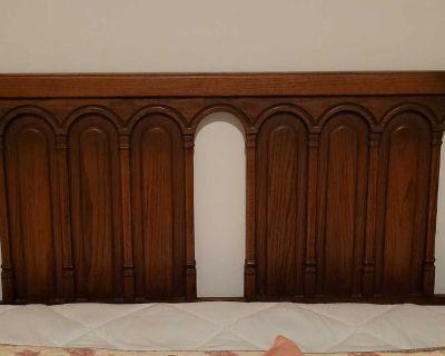 Headboard, triple Dresser, 2 bedside tables