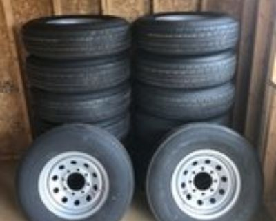 235/80/16 8 Lug Trailer Wheels and Tires