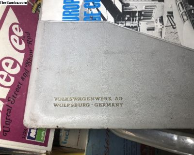 VW European delivery owners manual folder