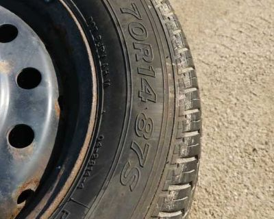 """Set of 14"""" tire and rims"""
