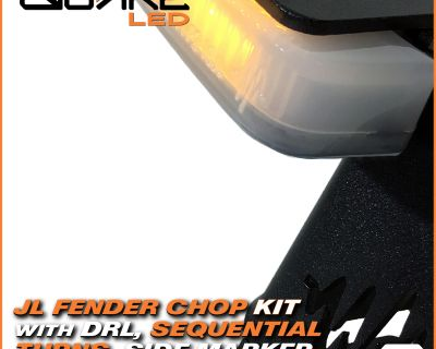Check Out! Quake LED's Jeep Wrangler JL / JT Gladiator DRL, Sequential Turn Signal Fender Chop Kit