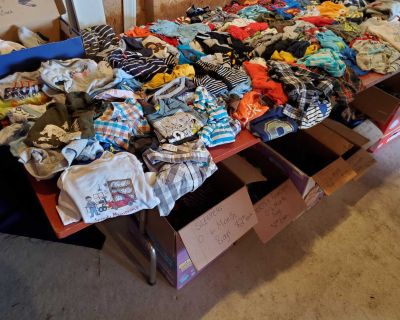 Large assortment of baby boy clothes