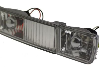 Vw Golf Jetta Mk3 Front Bumper Fog & Indicator Lights Clear Lens Ecode Dot - New