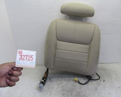 01 02 Town Car Right Front Seat Upper Back Cushion Tan Recline Motor Headrest