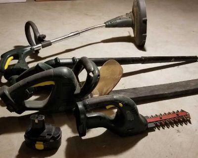Yard works garden tools