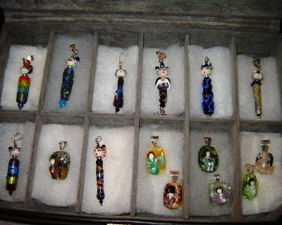 Japanese Doll Pendant Collection