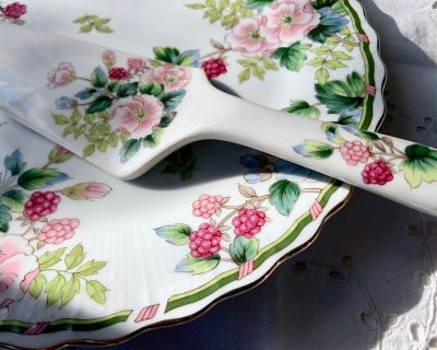 NEW Andrea Cake Plate with Server by Sadek