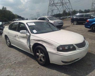 Salvage White 2005 Chevrolet Impala