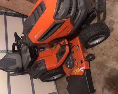 Estate sale: fine dining room table, 54 lawn tractor, buffet