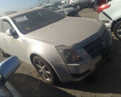 Salvage White 2009 Cadillac Cts