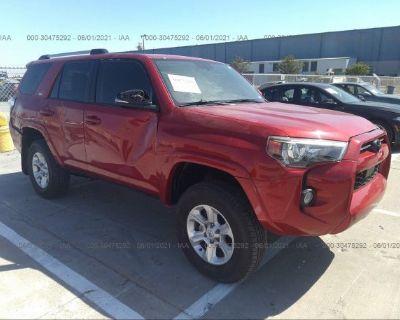 Salvage Red 2020 Toyota 4runner