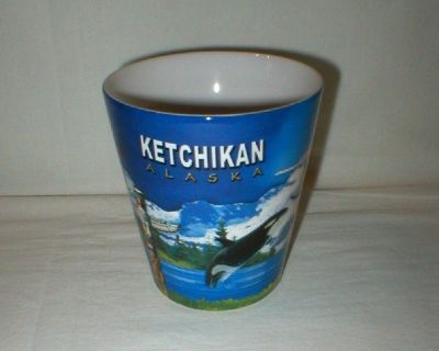 Ketchikan Alaska Coffee Mug Cup - Bush Plane, Eagle, Totem Pole