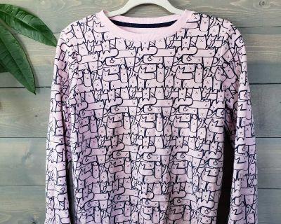 Cat & Jack Pink Cat Sweatshirt Sz XL (14-16)