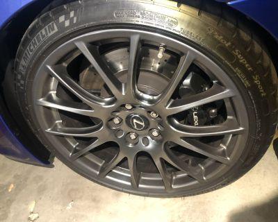 2012-2014 Lexus ISF BBS Forged Wheels Mint Like New - TRADE for Borla Catback