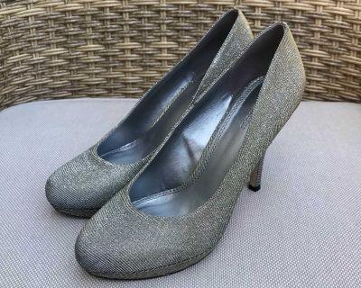 La Chateau silver heels size 10