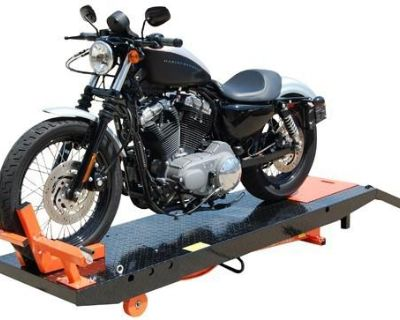 Titan 1000d Motorcycle Lift 1,000 Lb Air Powered With Vise