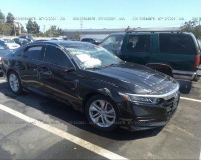 Salvage Black 2020 Honda Accord Sedan
