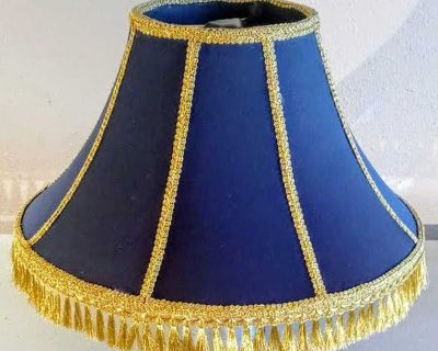 Nicely handcrafted custom lampshade.