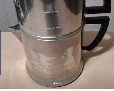 Vintage coffee percolator/ vegetable steamer/cookware set