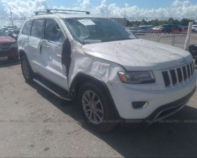 Salvage White 2015 Jeep Grand Cherokee
