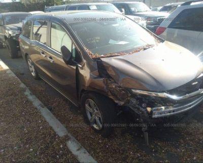 Salvage Gray 2020 Honda Odyssey