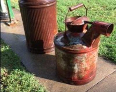 Antique gas cans