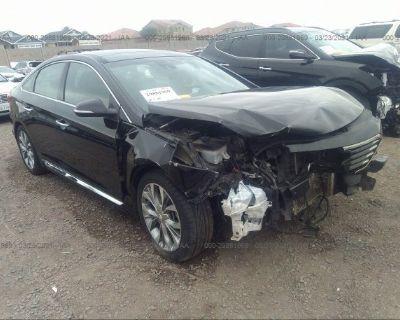 Salvage Black 2015 Hyundai Sonata
