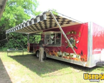 2016 Covered Wagon 8' x 24' Kitchen Food Concession Trailer with 10' Porch