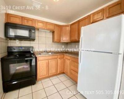 3419 Crest Ave Se #B, Albuquerque, NM 87106 2 Bedroom Apartment