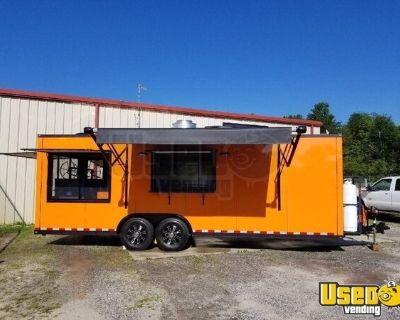 Fully Equipped 2018 - 24' Mobile Kitchen Food Concession Trailer with 8' Enclosed Porch