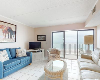 Sixth-Floor Oceanfront Condo w/ Central A/C, Washer/Dryer, & a Furnished Balcony - North Ocean City