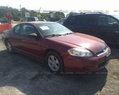 Salvage Red 2006 Chevrolet Monte Carlo