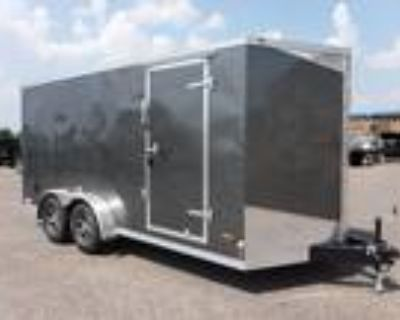 """2021 RC Trailers 7x16TA Enclosed 6'6"""" Int Cargo - Charcoal"""