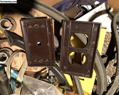 Westfalia camper electrical plates.