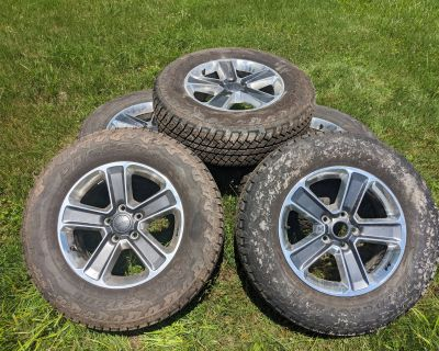 """New York - 2020 18"""" Wrangler Alluminum rims and 4 Bridgestone Dueler 255/70R18 AT tires $1500"""