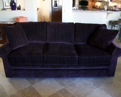 2 Purple Lazyboy Sofas