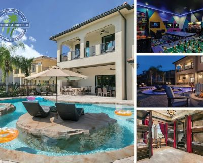 The Magic Villa at Reunion | 9 Bed, 9 Bath, Pool, Spa & Lazy River, 2 Games Room - Reunion