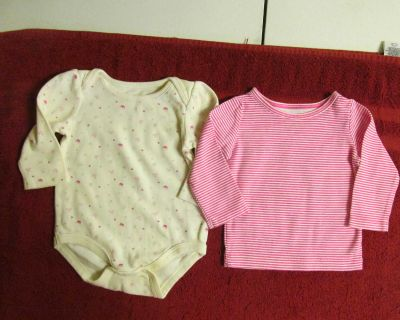 Two 6 mos. cotton tops